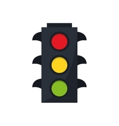 Isolated semaphore road sign design vector image