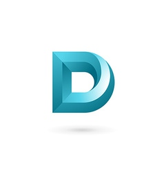 Letter D logo icon design template elements vector image vector image