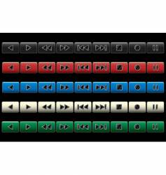 multimedia navigation buttons vector image vector image