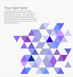Pastel wrapping triangle flat background vector