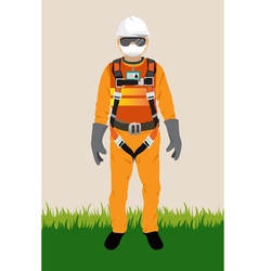 Personal protect equipment safety harness vector