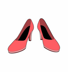 pink shoes vector image