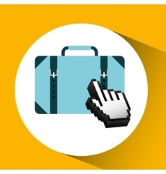 traveling concept technology suitcase design vector image vector image