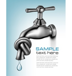 water tap closed blue background vector image vector image