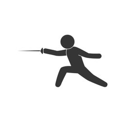Fencing sport exercise vector