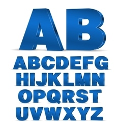 3D style font vector image
