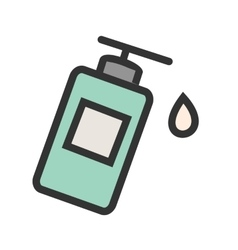 Lotion bottle vector