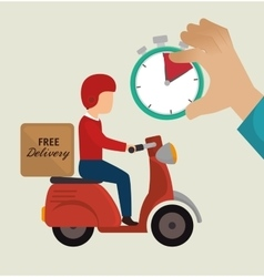 Free delivery guy ride motorcycle icons vector