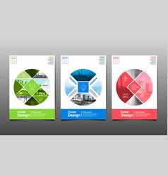 poster flyer template circle abstact vector image