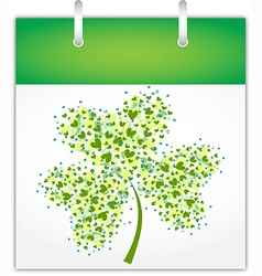 Calendar page for Saint Patricks day vector image