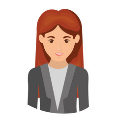 colorful portrait half body of woman with formal vector image