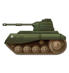 A green military tank vector