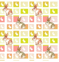 A seamless design with bunnies vector image