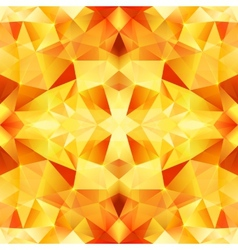 Orange crystal abstract seamless pattern vector