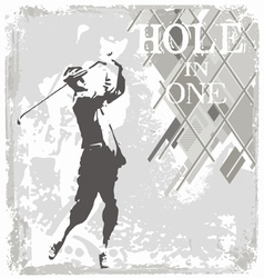 hole in one golf vector image