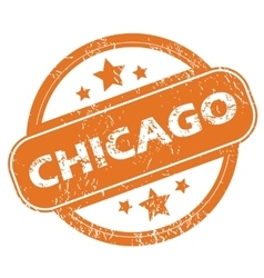 Chicago round stamp vector