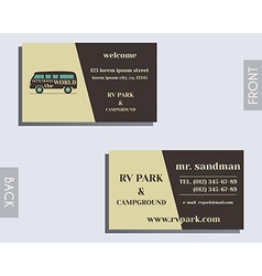 Travel and camping visiting card design layout vector