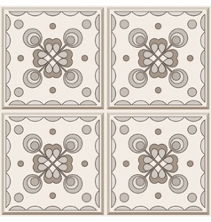 Brown ceramic tile vector