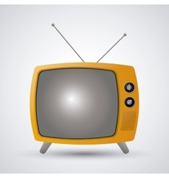 Retro television design vector