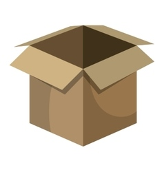 Delivery package box isolated icon vector