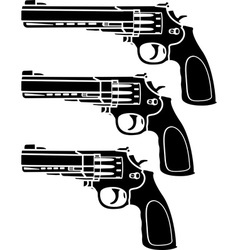Set of pistols stencil vector