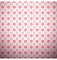 Abstract flower pattern wallpaper with hearts vector