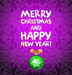 Abstract green Christmas balls cutted from paper vector image