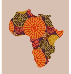 Africa - patterned map vector image vector image