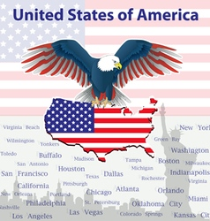 Background with eagle - a symbol of usa vector