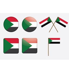 badges with flag of Sudan vector image