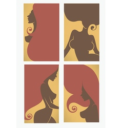 beauty cards vector image
