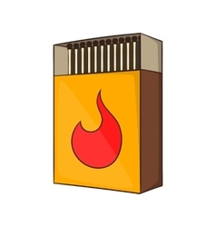 Box of matches icon cartoon style vector image