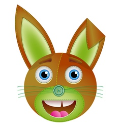 Cute bunny toy vector image