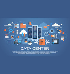 Data center cloud computer connection hosting vector