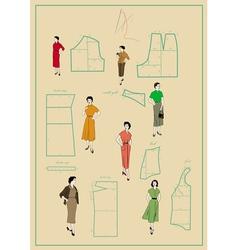 Dressmaking vector