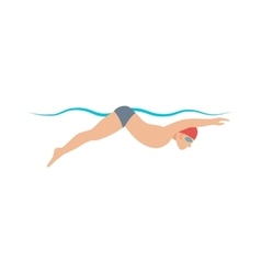 Dynamic swimmer pool sport vector image vector image