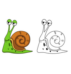Educational coloring book-snail vector