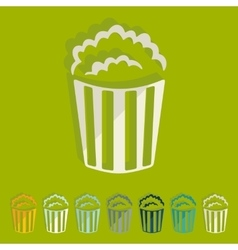 Flat design popcorn vector