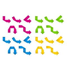 Folded paper arrows vector