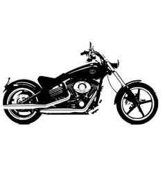 Harley davidson bike vector