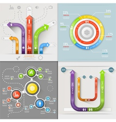 Infographic arrows circuit business marketing vector