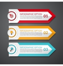 Infographic design arrow number options banner vector