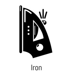 iron icon simple black style vector image