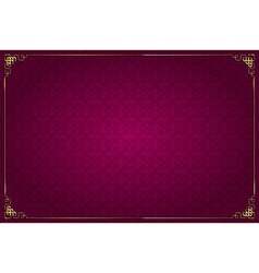 red background chinese style and gold decoration vector image