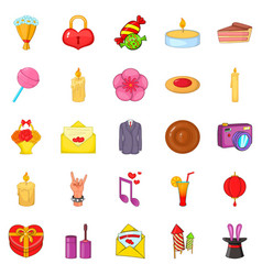 revels icons set cartoon style vector image vector image