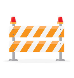 Road barrier barricade vector