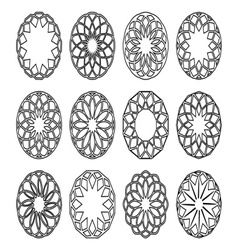 Round geometric ornaments vector image