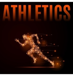 Running man athletics vector image vector image