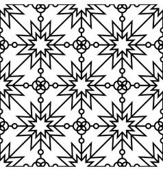 Seamless geometric monochrome pattern vector