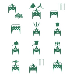 Set of brazier icons vector